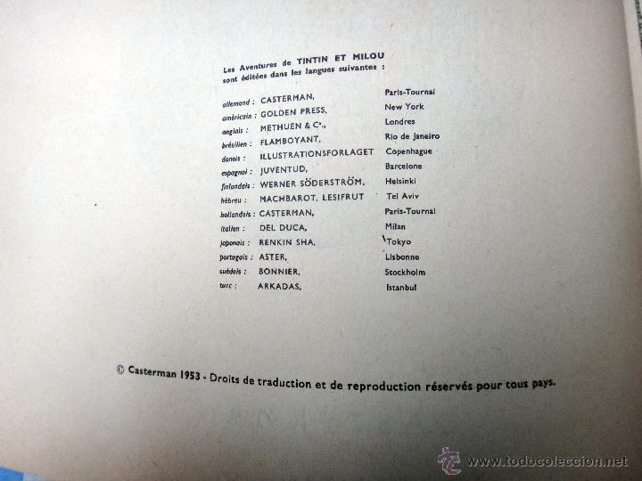 Cómics: TINTIN OBJECTIF LUNE , CASTERMAN, FRANCES, IMPRESO EN BELGICA , 1963 , ORGINAL - Foto 5 - 53972516