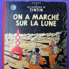 Cómics: TINTIN ON A MARCHE SUR LA LUNE , CASTERMAN, FRANCES, IMPRESO EN BELGICA , 1954 ,ORGINAL. Lote 97203911