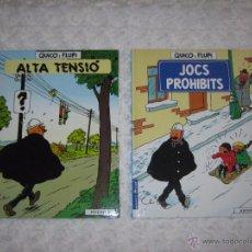 Cómics: QUICO I FLUPI - COL-LECCIO COMPLETA ALTA TENSIO - JOCS PROHIBITS - CATALA. Lote 54615967