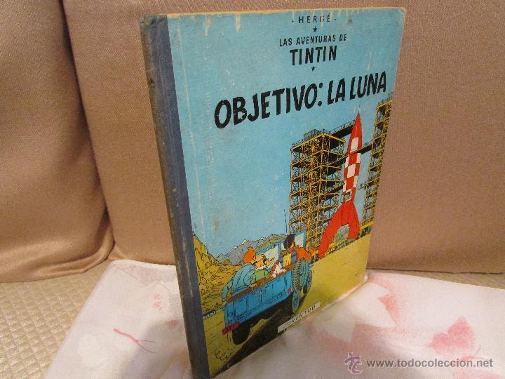 Cómics: TINTIN OBJETIVO : LA LUNA - EDICIÓN 1965 - Foto 2 - 55011705