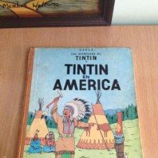 Cómics: TINTIN. EN AMERICA. 1ª PRIMERA EDICIÓN 1968. LOMO MARRÓN. HERGÉ. Lote 57038496