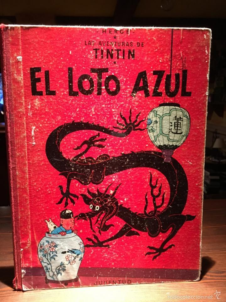 EL LOTO AZUL 3ª EDICION DE 1970 LOMO DE TELA (Tebeos y Comics - Juventud - Tintín)
