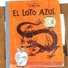 Cómics: 7655 - TINTÍN EL LOTO AZUL. 1ª EDICIÓN. LOMO AZUL. HERGÉ. EDIT. JUVENTUD. 1965.. Lote 57510234