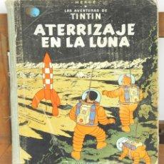 Cómics: 7670 - TINTÍN ATERRIZAJE EN LA LUNA. 1ª EDICIÓN. LOMO AZUL. HERGÉ. EDIT. JUVENTUD. 1959.. Lote 57528340