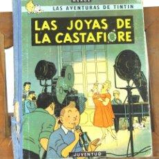 Cómics: 7674 - TINTÍN LAS JOYAS DE LA CASTAFIORE. 1ª EDICIÓN. LOMO AZUL. HERGÉ. EDIT. JUVENTUD. 1964.. Lote 57568224