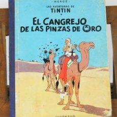 Cómics: 7676 - TINTÍN EL CANGREJO DE LAS PINZAS DE ORO. 1º EDICIÓN. LOMO AZUL. HERGÉ. EDI. JUVENTUD. 1963.. Lote 143130304