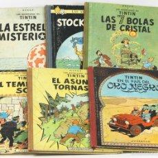 Cómics: 7679 - LOTE DE 6 EJEMPLARES DE TINTÍN. 2ª EDIC.(VER DESCRIP). HERGÉ. EDIC. JUVENTUD. 1961/1965.. Lote 57589022