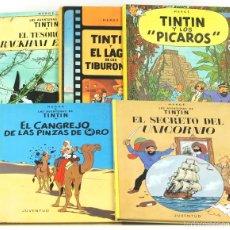 Cómics: 7681 - LOTE DE 5 EJEMPLARES DE TINTÍN. VARIAS EDI.(VER DESCRIP). HERGÉ. EDI. JUVENTUD. 1974/1982.. Lote 57590610