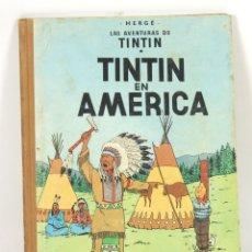 Cómics: 7687 - TINTÍN EN AMÉRICA. 1ª EDICIÓN. LOMO MARRÓN. HERGÉ. EDIT. JUVENTUD. 1968.. Lote 57592544