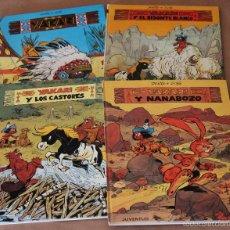 Cómics: YAKARI 1, 2 (EL BISONTE BLANCO), 3 (Y LOS CASTORES), 4 (Y NANABOZO) - JUVENTUD 1979 1980 - 1ª ED.. Lote 57965190