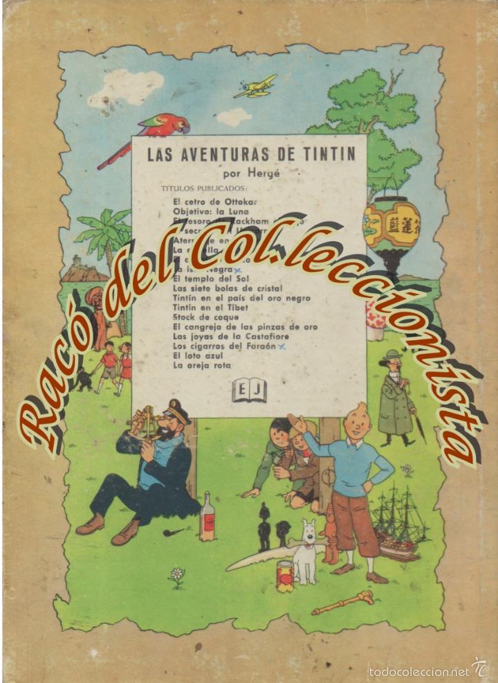 Cómics: LA ISLA NEGRA, 2A. EDICION, HERGE, EDITORIAL JUVENTUD, 1967 - Foto 2 - 58187034