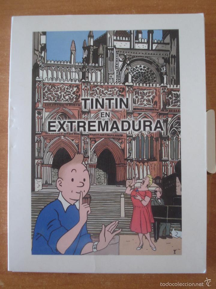 TINTIN EN EXTREMADURA. COLECCIÓN DE 20 POSTALES DE TINTÍN EN EXTREMADURA. (Tebeos y Comics - Juventud - Tintín)