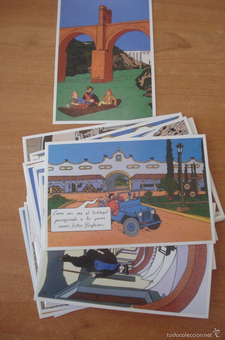 Cómics: TINTIN EN EXTREMADURA. Colección de 20 postales de Tintín en Extremadura. - Foto 2 - 58549282