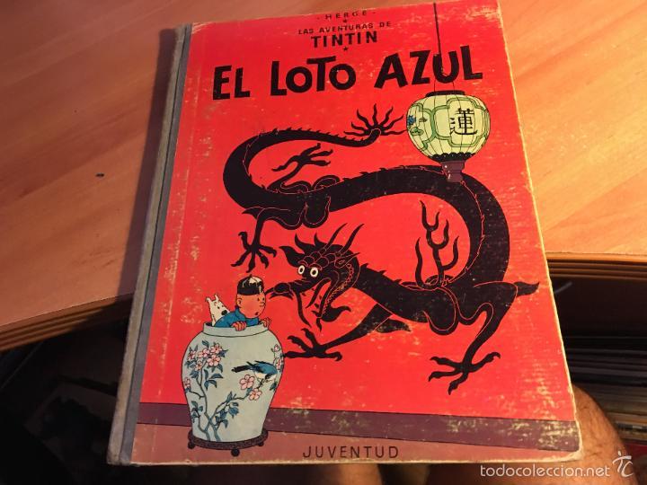 LAS AVENTURAS DE TINTIN (EL LOTO AZUL) LOMO TELA PRIMERA EDICION 1965 (COI5) (Tebeos y Comics - Juventud - Tintín)
