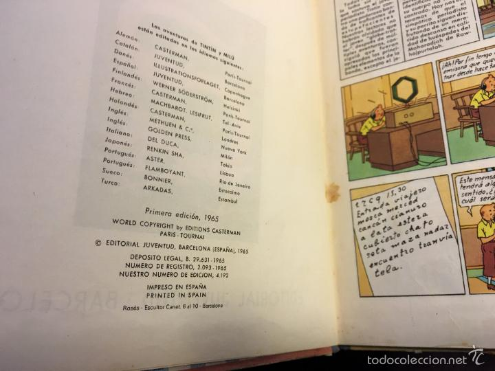 Cómics: LAS AVENTURAS DE TINTIN (EL LOTO AZUL) LOMO TELA PRIMERA EDICION 1965 (COI5) - Foto 4 - 58757958