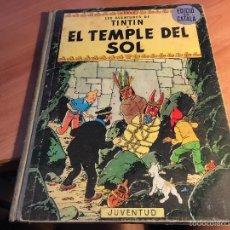 Cómics: LES AVENTURES DE TINTIN (EL TEMPLE DEL SOL) LOMO TELA PRIMERA EDICION 1965 CATALAN (COIB108). Lote 58758182