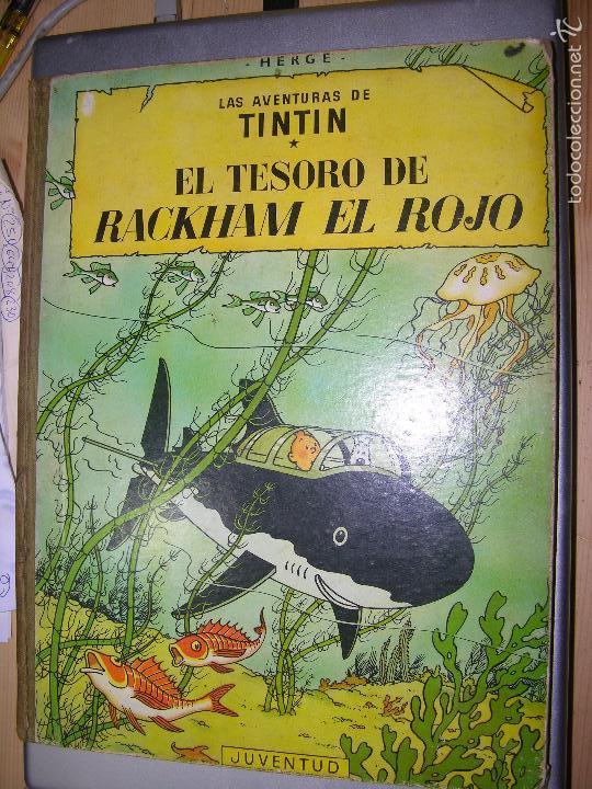 LAS AVENTURAS DE TINTIN EL TESORO DE RACKHAM EL ROJO 4 ED 1967 (Tebeos y Comics - Juventud - Tintín)