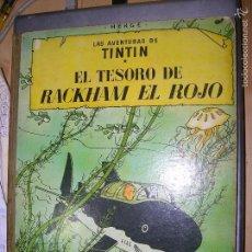 Cómics: LAS AVENTURAS DE TINTIN EL TESORO DE RACKHAM EL ROJO 4 ED 1967. Lote 60189887