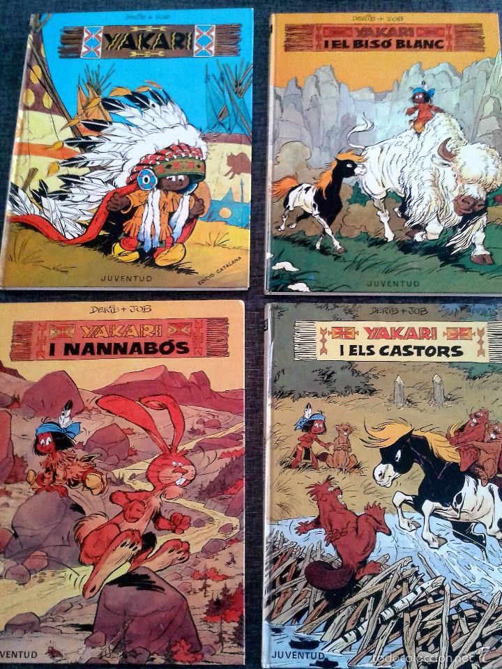 4 PRIMEROS EJEMPLARES DE YAKARI, PRIMERA EDICIÓN, EN CATALÀ, EDITORIAL JUVENTUD (1979-1980) (Tebeos y Comics - Juventud - Yakary)