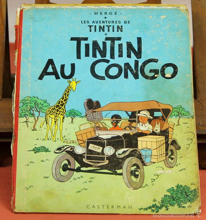 7972 - TINTÍN AU CONGO. LOMO ROJO. HERGÉ. EDIT. CASTERMAN. 1947. (Tebeos y Comics - Juventud - Tintín)