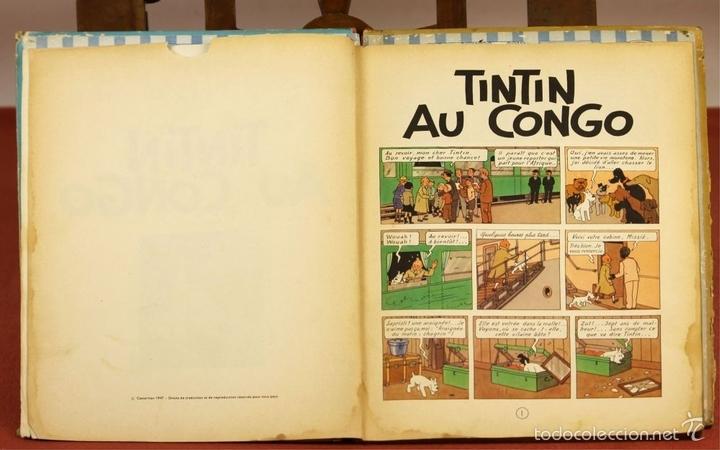 Cómics: 7972 - TINTÍN AU CONGO. LOMO ROJO. HERGÉ. EDIT. CASTERMAN. 1947. - Foto 4 - 213444176