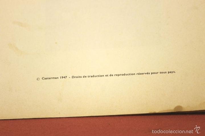 Cómics: 7972 - TINTÍN AU CONGO. LOMO ROJO. HERGÉ. EDIT. CASTERMAN. 1947. - Foto 5 - 213444176