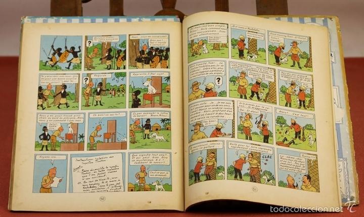 Cómics: 7972 - TINTÍN AU CONGO. LOMO ROJO. HERGÉ. EDIT. CASTERMAN. 1947. - Foto 8 - 213444176