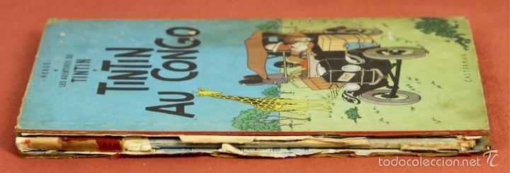 Cómics: 7972 - TINTÍN AU CONGO. LOMO ROJO. HERGÉ. EDIT. CASTERMAN. 1947. - Foto 10 - 213444176