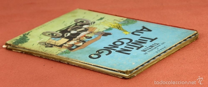 Cómics: 7972 - TINTÍN AU CONGO. LOMO ROJO. HERGÉ. EDIT. CASTERMAN. 1947. - Foto 11 - 213444176
