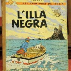 Cómics: 7973 - TINTÍN L'ILLA NEGRA. 1ª EDICIÓN. LOMO MARRÓN. HERGÉ. EDIT. JUVENTUD. 1966.. Lote 60901675