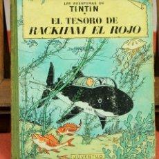 Cómics: 7974 - TINTÍN EL TESORO DE RACKHAM EL ROJO. 2ª EDICIÓN. LOMO VERDE. HERGÉ. EDIT. JUVENTUD. 1964.. Lote 60903347