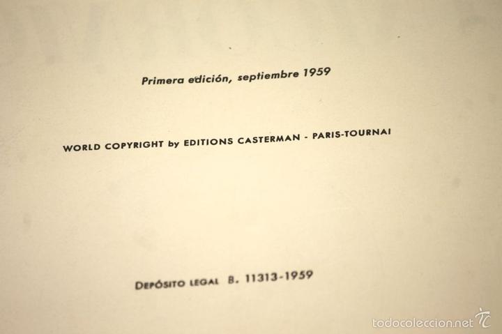 Cómics: 7975 - TINTÍN EL SECRETO DEL UNICORNIO.1ª EDICIÓN. LOMO ROJO. HERGÉ. EDIT. JUVENTUD. 1959. - Foto 6 - 60904687