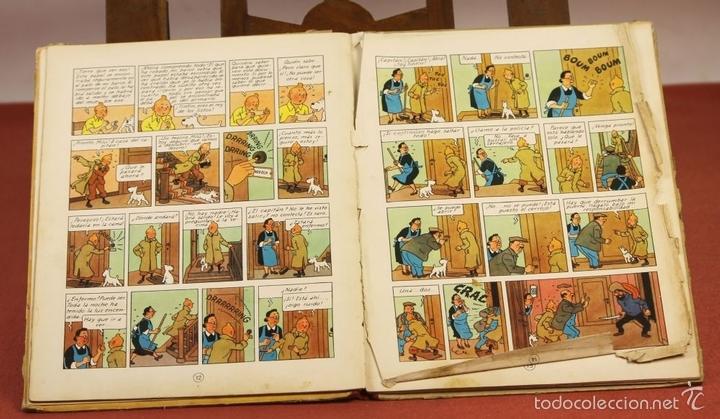 Cómics: 7975 - TINTÍN EL SECRETO DEL UNICORNIO.1ª EDICIÓN. LOMO ROJO. HERGÉ. EDIT. JUVENTUD. 1959. - Foto 7 - 60904687