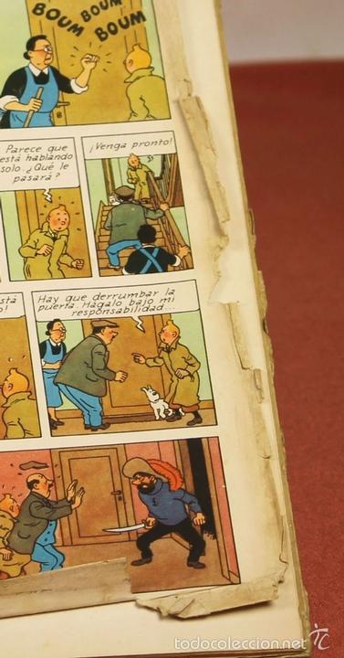 Cómics: 7975 - TINTÍN EL SECRETO DEL UNICORNIO.1ª EDICIÓN. LOMO ROJO. HERGÉ. EDIT. JUVENTUD. 1959. - Foto 8 - 60904687