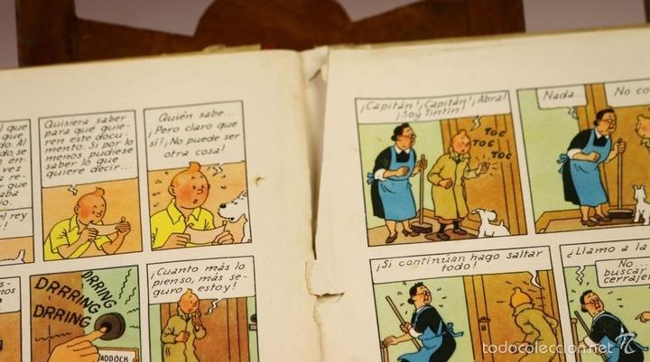 Cómics: 7975 - TINTÍN EL SECRETO DEL UNICORNIO.1ª EDICIÓN. LOMO ROJO. HERGÉ. EDIT. JUVENTUD. 1959. - Foto 9 - 60904687