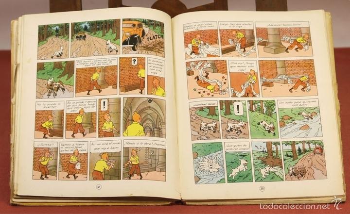 Cómics: 7975 - TINTÍN EL SECRETO DEL UNICORNIO.1ª EDICIÓN. LOMO ROJO. HERGÉ. EDIT. JUVENTUD. 1959. - Foto 11 - 60904687
