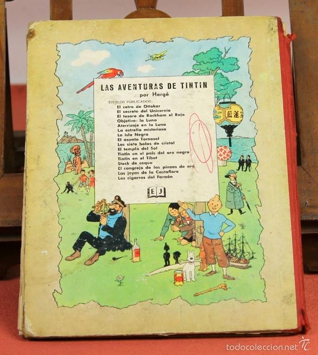 Cómics: 7975 - TINTÍN EL SECRETO DEL UNICORNIO.1ª EDICIÓN. LOMO ROJO. HERGÉ. EDIT. JUVENTUD. 1959. - Foto 16 - 60904687