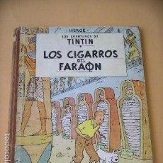Cómics: TINTIN, LOS CIGARROS DEL FARAÓN, 1ª EDICIÓN, AÑO 1964, ED. JUVENTUD, HERGE, ERCOM. Lote 61432935