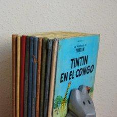 Cómics: DIEZ LIBROS DE TINTÍN - HERGÉ - PRIMERA EDICIÓN - EDITORIAL JUVENTUD - LOMOS DE TELA. Lote 61580248