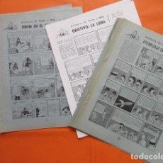 Cómics: LOTE DE COMIC TINTIN QUE SALIAN EN REVISTAS BLANCO Y NEGRO AÑOS 50 - TOTAL 26 HOJAS NO REPETIDAS. Lote 61607660
