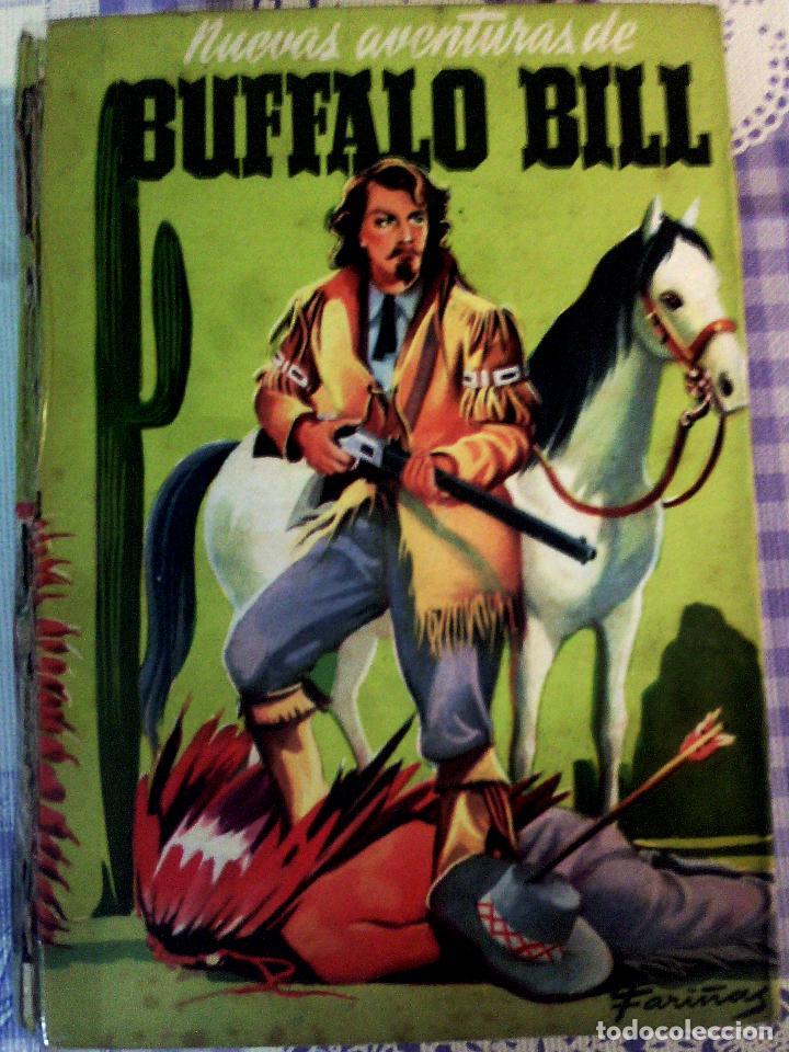 LIBRO ILUSTRADO DE - NUEVAS AVENTURAS DE BUFALO BILL - 1954 EDITORIAL MATEU , COLECION CADETE (Tebeos y Comics - Juventud - Otros)