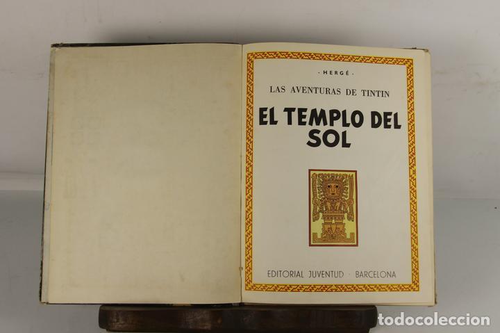 5250- EL TEMPLO DEL SOL. HERGE. EDIT. JUVENTUD. SEGUNDA EDICION. 1961. (Tebeos y Comics - Juventud - Tintín)