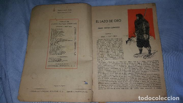 Cómics: EL LAZO DE ORO - JAMES O.CURWOOD - LA NOVELA ZAUL- ED. JUVENTUD 1º EDICION 20-11-1934 - Foto 2 - 64162615