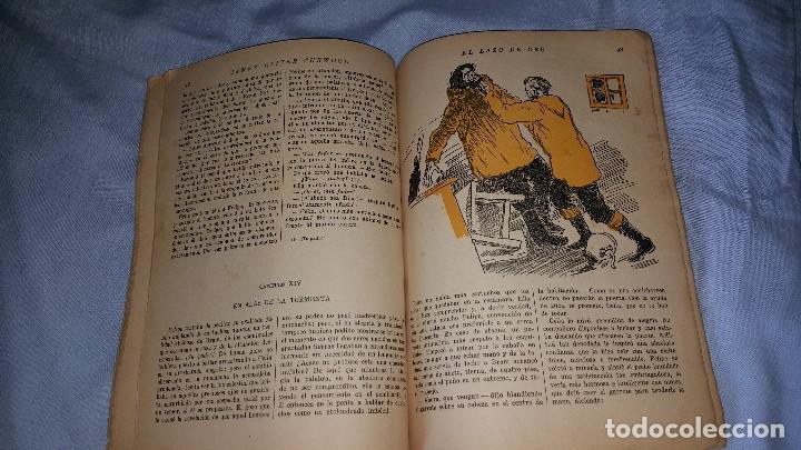Cómics: EL LAZO DE ORO - JAMES O.CURWOOD - LA NOVELA ZAUL- ED. JUVENTUD 1º EDICION 20-11-1934 - Foto 4 - 64162615
