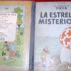 Cómics: TINTIN LA ESTRELLA MISTERIOSA PRIMERA EDICION CASTELLANA EL DIFICIL LOMO AZUL VER FOTOS. Lote 64177159