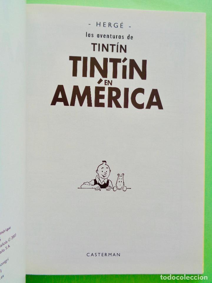 Cómics: TINTIN EN AMÉRICA. AUTOR, HERGÉ. EDITORIAL CASTERMAN AÑO 2003. VER FOTOS - Foto 3 - 67245465