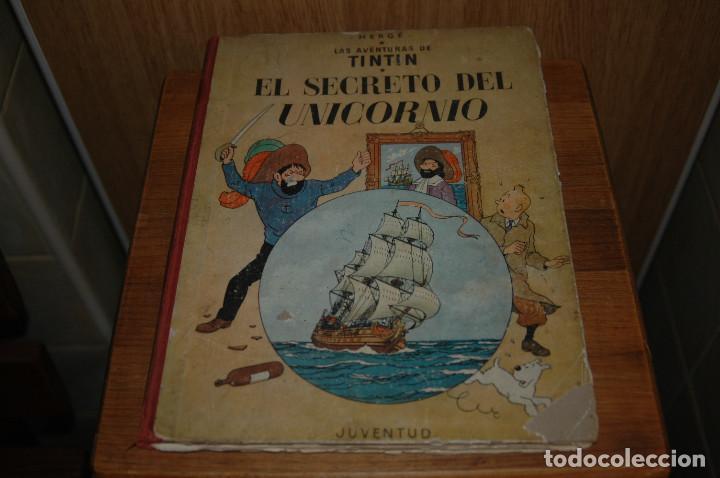TINTIN. EL SECRETO DEL UNICORNIO. PRIMERA EDICION.1959 VER FOTOS (Tebeos y Comics - Juventud - Tintín)