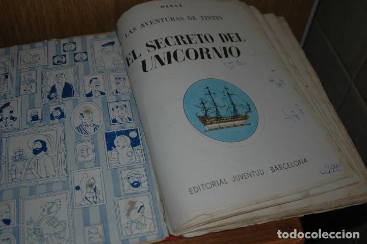 Cómics: TINTIN. EL SECRETO DEL UNICORNIO. PRIMERA EDICION.1959 VER FOTOS - Foto 4 - 67826633