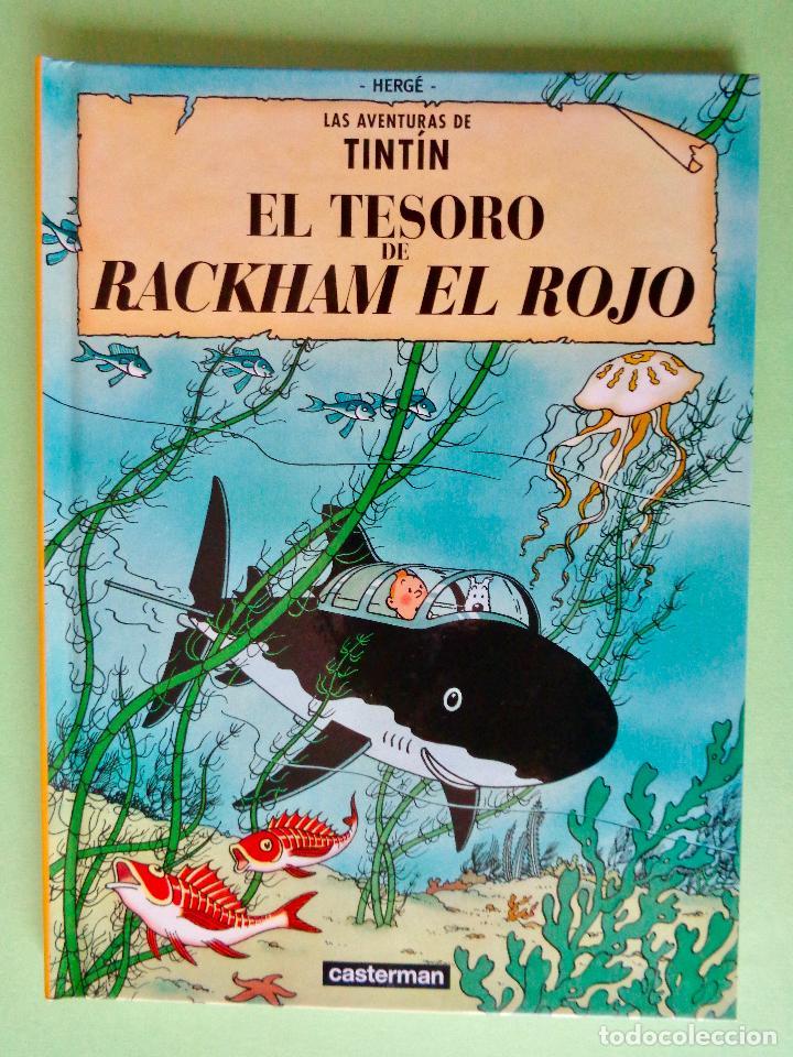 TINTÍN, EL TESORO DE RACKHAM EL ROJO. AUTOR, HERGÉ. EDITA CASTERMAN AÑO 2001. VER FOTOS (Tebeos y Comics - Juventud - Tintín)