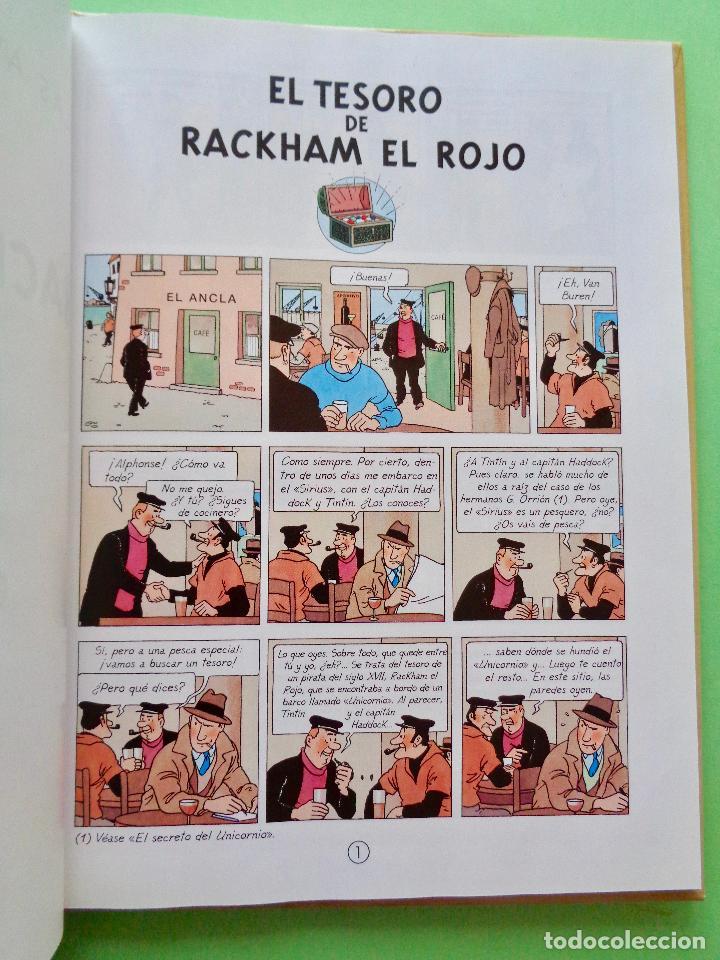 Cómics: TINTÍN, EL TESORO DE RACKHAM EL ROJO. AUTOR, HERGÉ. EDITA CASTERMAN AÑO 2001. VER FOTOS - Foto 3 - 67918593
